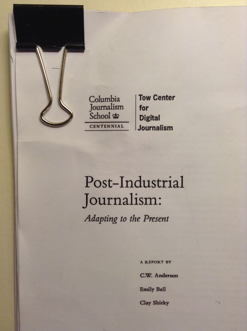 Post Industrial Journalism