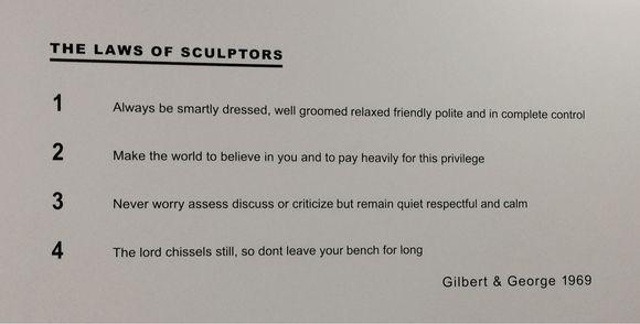 The Laws of Sculptors